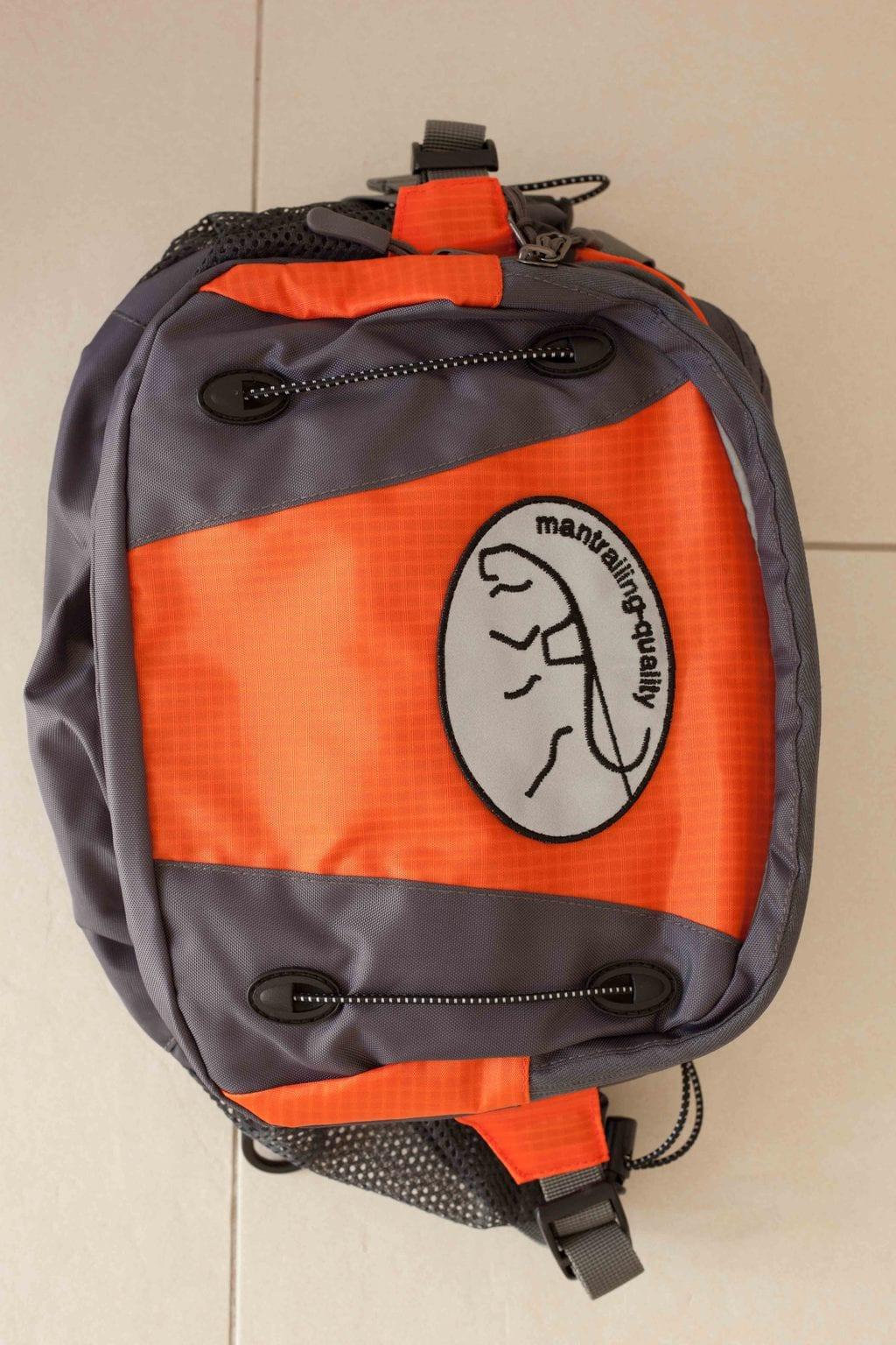 Trailtasche von mantrailing-quality Hüfttasche orange Vorderansicht