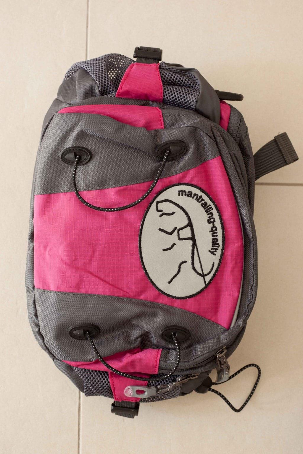 Trailtasche von mantrailing-quality Hüfttasche fuchsia Vorderansicht