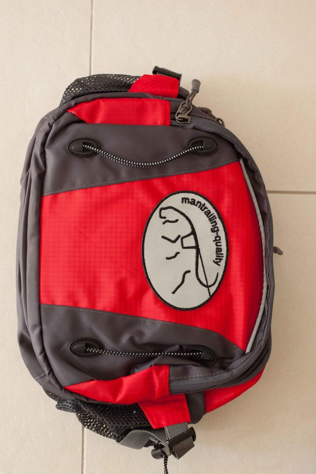 Trailtasche von mantrailing-quality Hüfttasche rot Vorderansicht