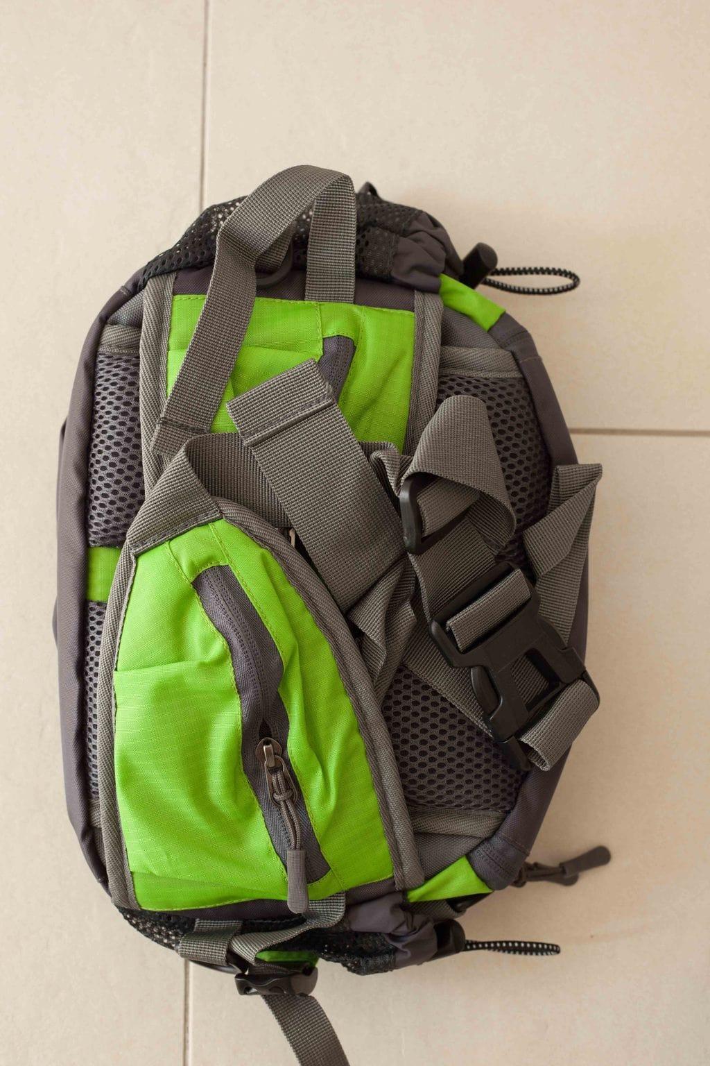 Trailtasche von mantrailing-quality Hüfttasche grün Rückansicht