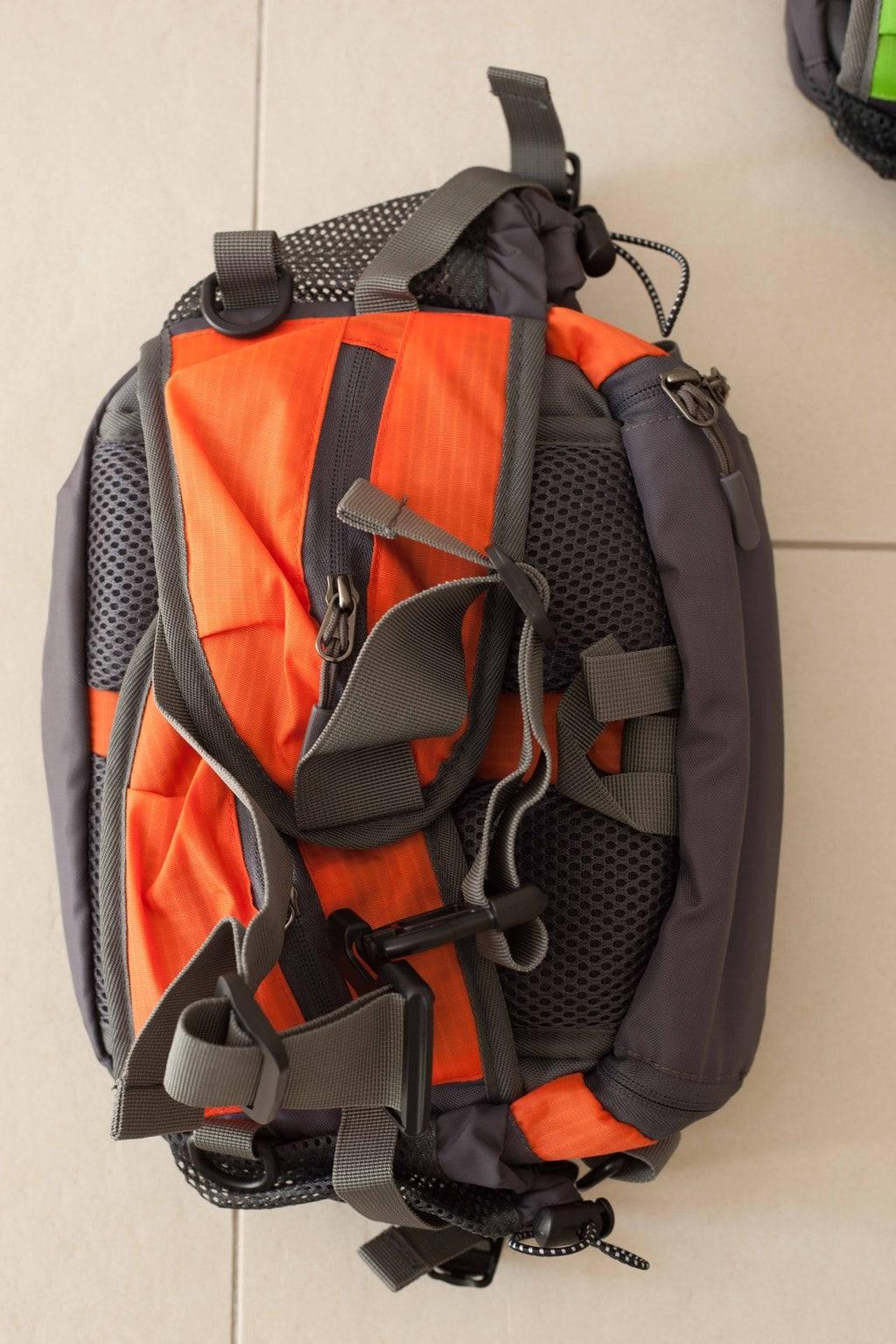 Trailtasche von mantrailing-quality Hüfttasche orange Rückansicht