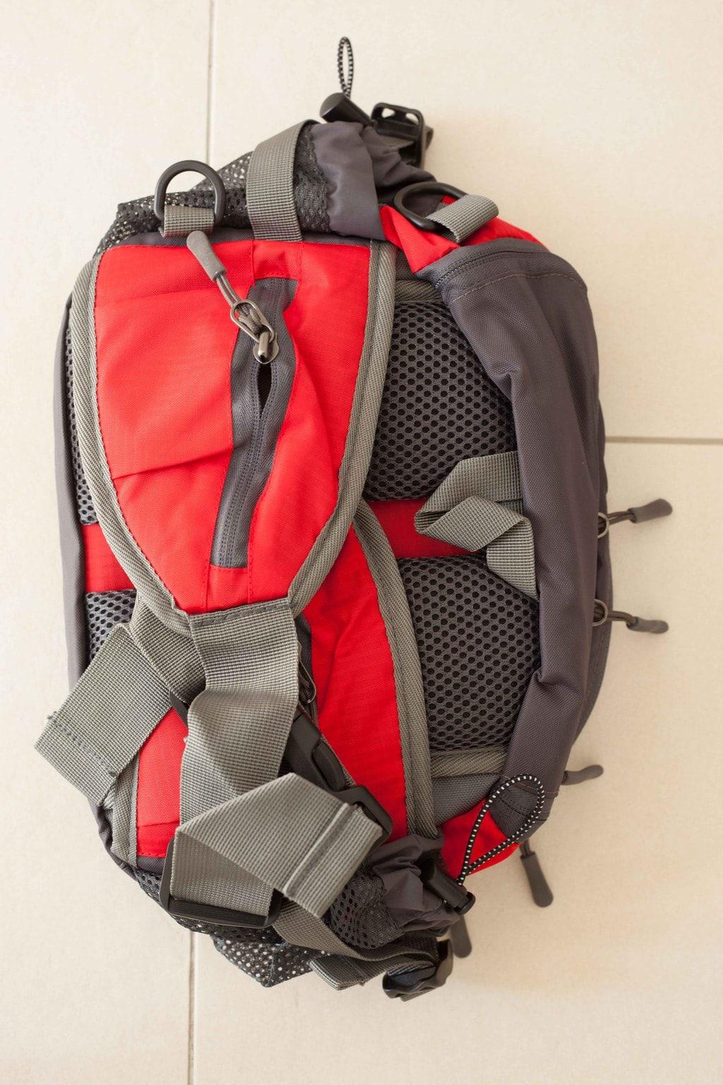 Trailtasche von mantrailing-quality Hüfttasche rot Rückansicht