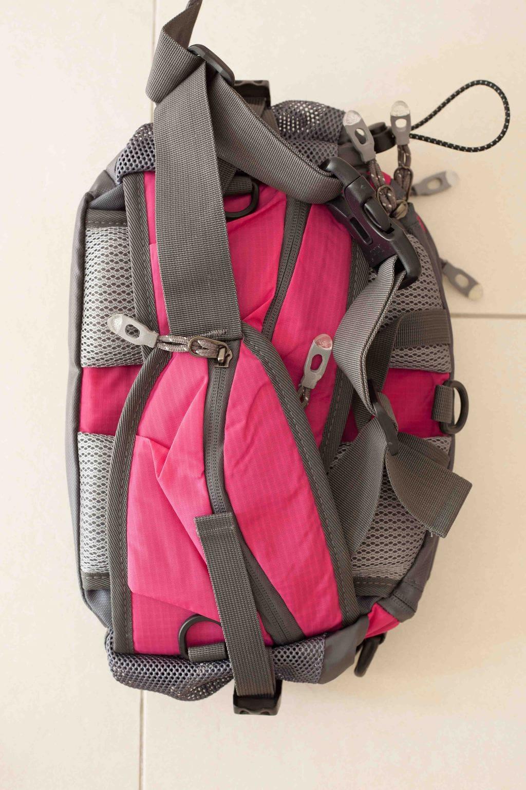 Trailtasche von mantrailing-quality Hüfttasche fuchsia Rückansicht