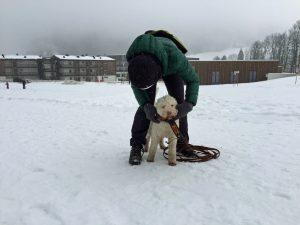 Trailstart im Schnee