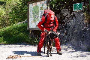 Mantrailing-Einsatzübung im Tennengebirge-Vorbereitungen