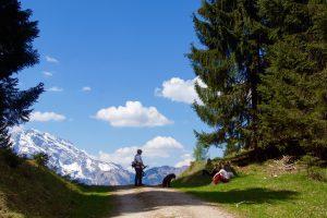 Mantrailing-Einsatzübung im Tennengebirge-Trailverlauf 1